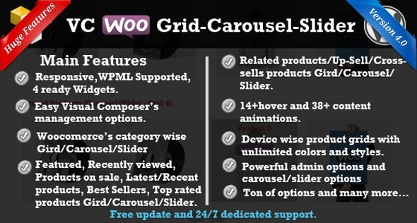 WP Bakery WooCommerce Grid/Carousel/Slider - CodeCanyon Item for Sale