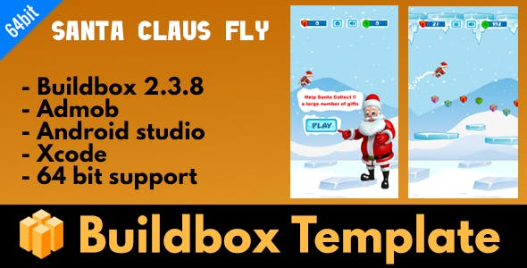 Santa claus fly - Buildbox Template