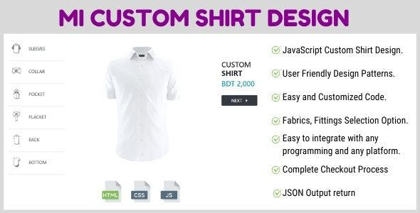MI Custom Shirt Designer jQuery Plugin