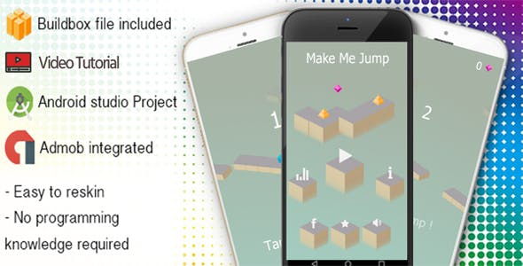 Make Me Jump Buildbox Template With Admob