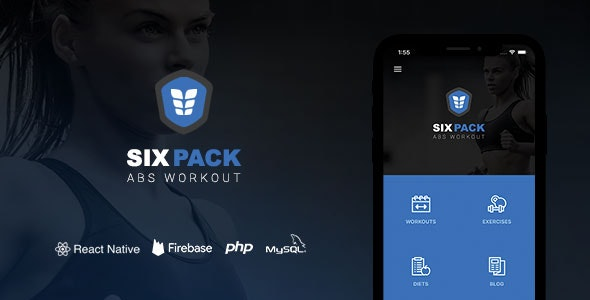 SixPack - Complete React Native Fitness App + Backend - CodeCanyon Item for Sale