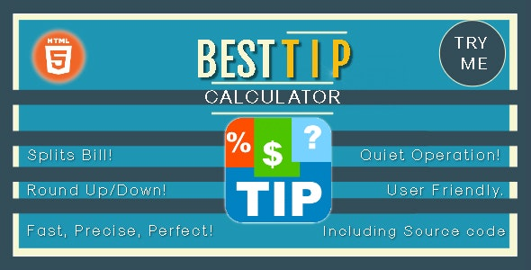 Best Tip Calculator - HTML5 Game - HTML5 Website - CodeCanyon Item for Sale