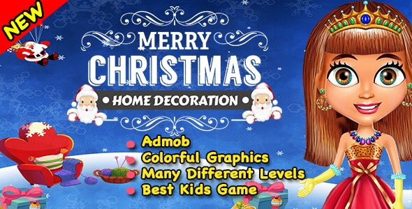 Merry Christmas Room Decoration + Ready For Publish + Android - CodeCanyon Item for Sale