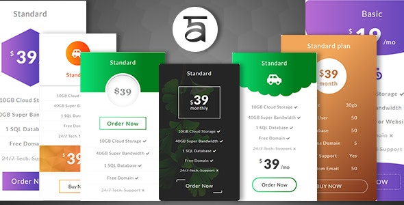 Alura - Creative And Ultimate Pricing Plan HTML Plugin - CodeCanyon Item for Sale