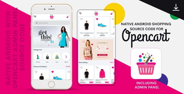 Complete Native Android Shopping App Source Code with Opencart