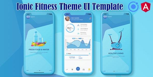 Ionic 5 / Angular 8 Fitness UI Theme / Template App | Starter App - CodeCanyon Item for Sale