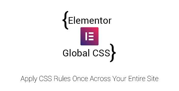 Elementor Global CSS Plugin