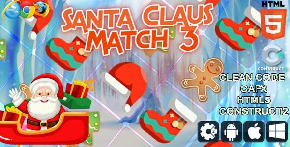 Santa Claus Match 3 - Html5 Game (CAPX)