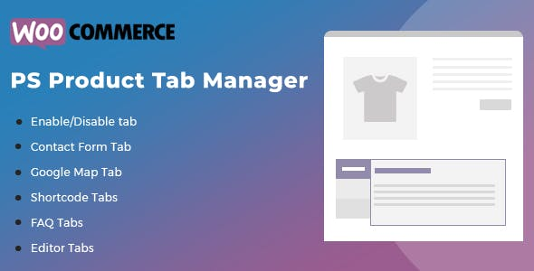 WooCommerce Product Tab Manager