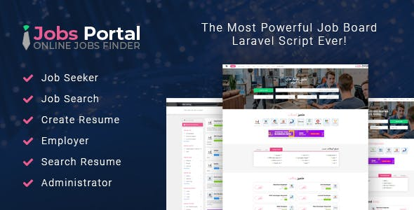 Jobs Portal - Job Board Laravel Script