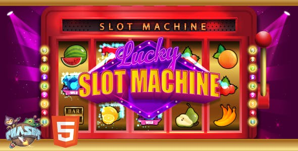 Lucky Slot Machine - HTML5 Game (Phaser 3)