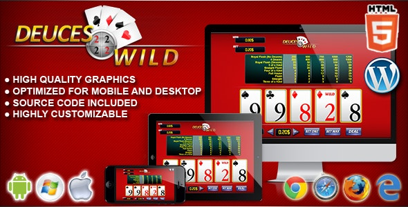 Video Poker Deuces Wild - HTML5 Casino Game - CodeCanyon Item for Sale