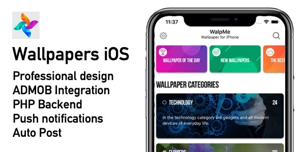 Wallpapers Native Ios App By Core App Codecanyon
