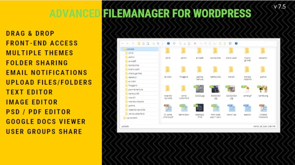 Wordpress File Manager Plugin by Getredhawkstudio