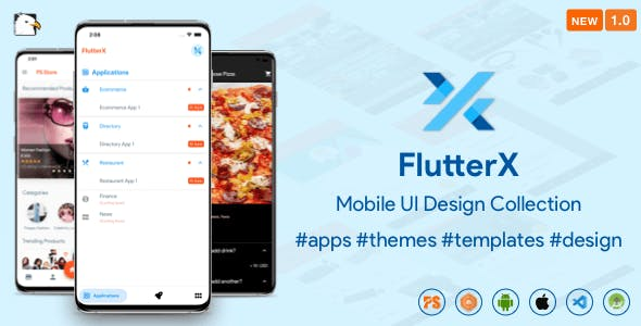 FlutterX (Design UI Components and Template Collection) 1.0