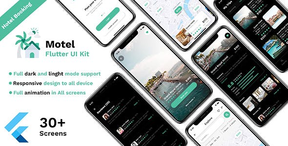 Hotel booking Flutter UI kit