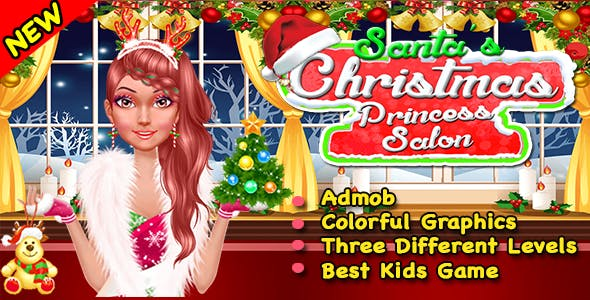 Santa Princess Salon + Best Game For Kids + Ready For Publish + Android