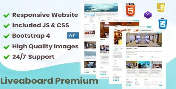Liveaboard  Premium Responsive Website  - Travel Niche