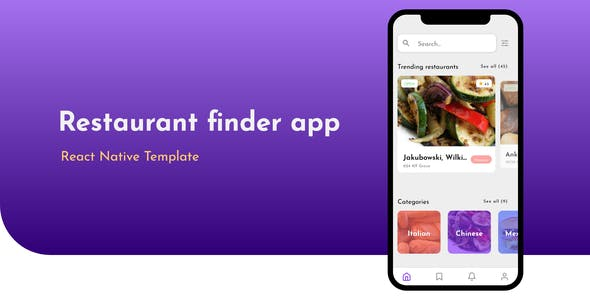 React Native - Restaurant finder app template