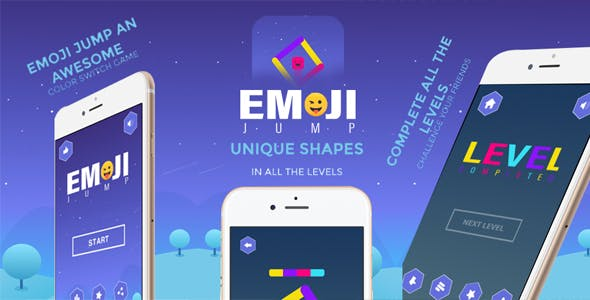 Emoji Jump Buildbox Template With Admob