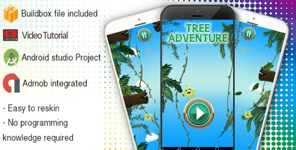 Tree Adventure Buildbox Template With Admob