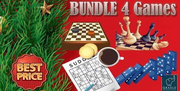 Bundle Board 4 Games (Admob + GDPR + Android Studio)