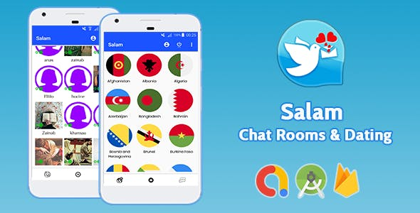 Salam - Android Dating & Chat Rooms App