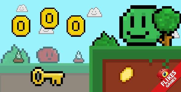 Slime - HTML5 retro hardcore game. Capx, mobile control, pixelart