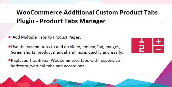 Additional Custom Product Tabs Plugin - Product Tabs Manager