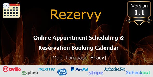 Rezervy - Online Appointment Scheduling & Reservation Booking Calendar