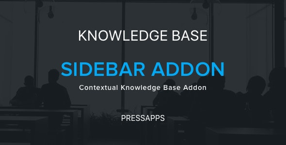 PressApps Knowledge Base Contextual Sidebar Addon - CodeCanyon Item for Sale
