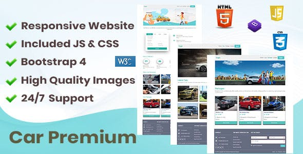 Car Premium Responsive Website - Travel Niche