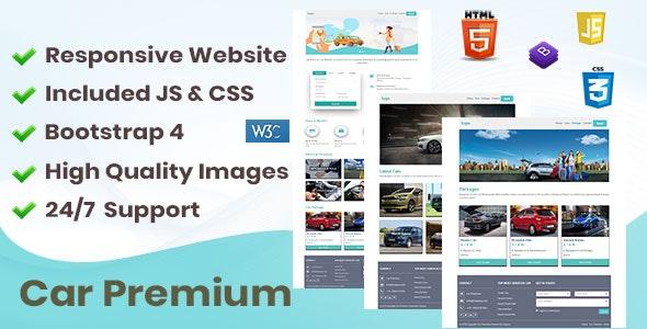 Car Premium Responsive Website - Travel Niche - CodeCanyon Item for Sale