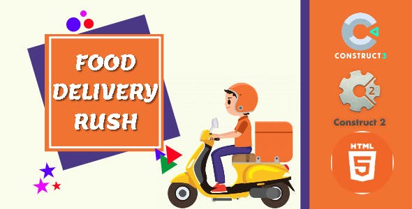 Food Delivery Rush HTML5 Game - HTML5 Website
