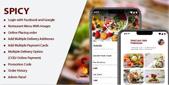 Spicy - A Single Restaurant Food ordering and delivering app V1.0.0