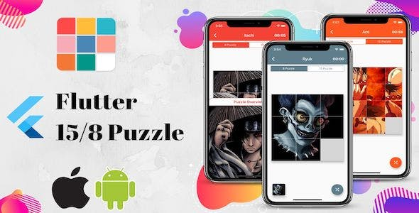 Flutter Puzzle Game for iOS and Android.