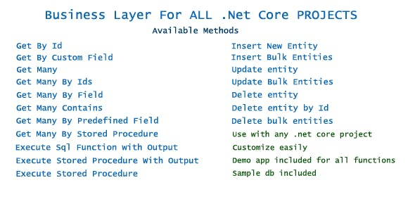 .Net Core Business Layer For All Projects