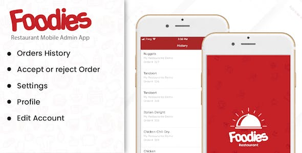 Foodies - IOS Native Order Taking Restaurant App