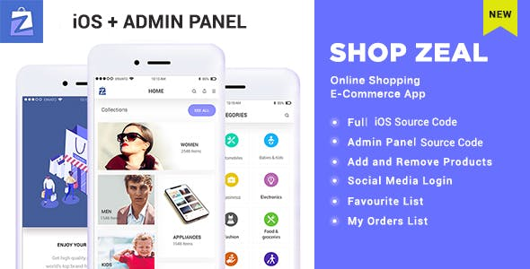 Shop Zeal- Online Shopping iOS E-Commerce App