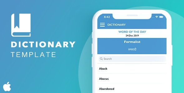 Dictionary Template for iOS - CodeCanyon Item for Sale