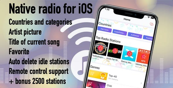 Radio Native iOS App - Xcode Full project and PHP Backend + In-app