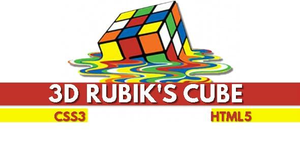 3D Rubiks Cube CSS3 & HTML5 Game - HTML5 Website