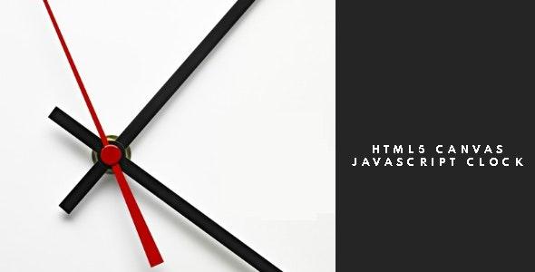 HTML5 Canvas Javascript Clock HTML5 Website - CodeCanyon Item for Sale