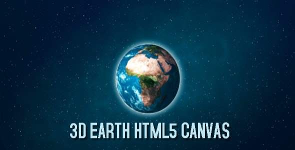 3D Earth HTML5 Canvas HTML5 Website - CodeCanyon Item for Sale