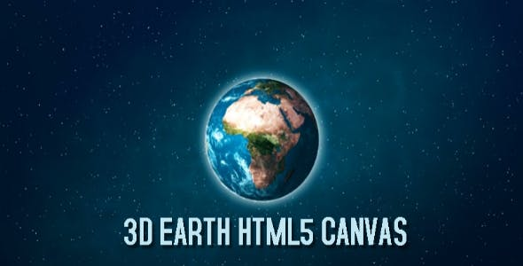 3D Earth HTML5 Canvas HTML5 Website