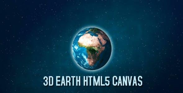 3D Earth HTML5 Canvas