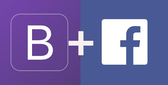 Facebook Bootstrap 4
