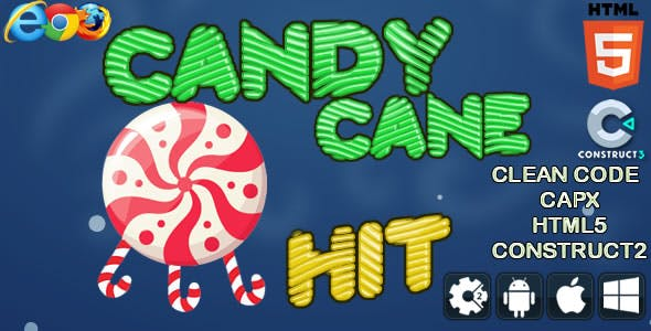 Candy cane Hit - Html5 Game