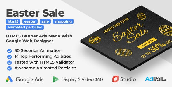Easter Sale - Shopping Animated HTML5 Banner Templates (GWD)