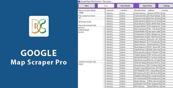 Google Map Scraper Pro